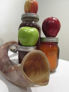 apples, honey, and horn for Rosh Hashanah