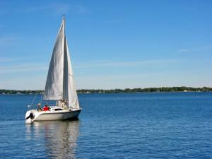 sailboat near Jersey City