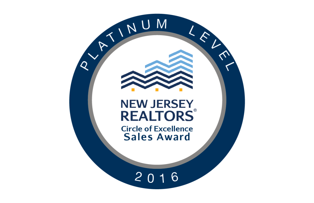 Platinum Level of NJ REALTORS® Circle of Excellence Award