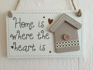 sentimental sign about home