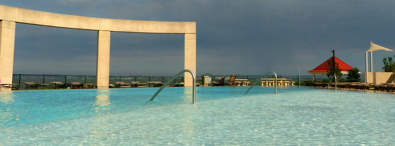infinity pool in Port Liberte community