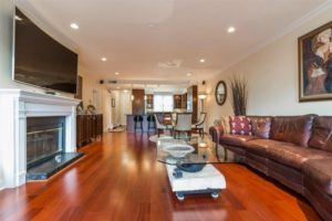 hardwood floors in Port Liberte condo