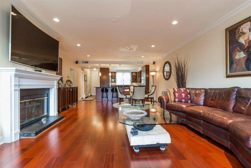 hardwood floors in Port Liberte condo
