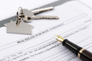 real estate paperwork in closing