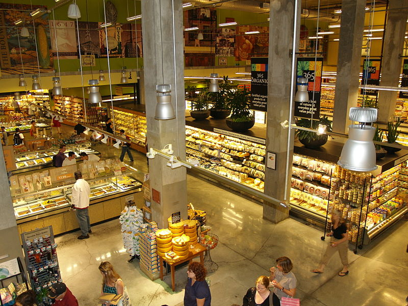 The interior of a Whole Foods in New York.